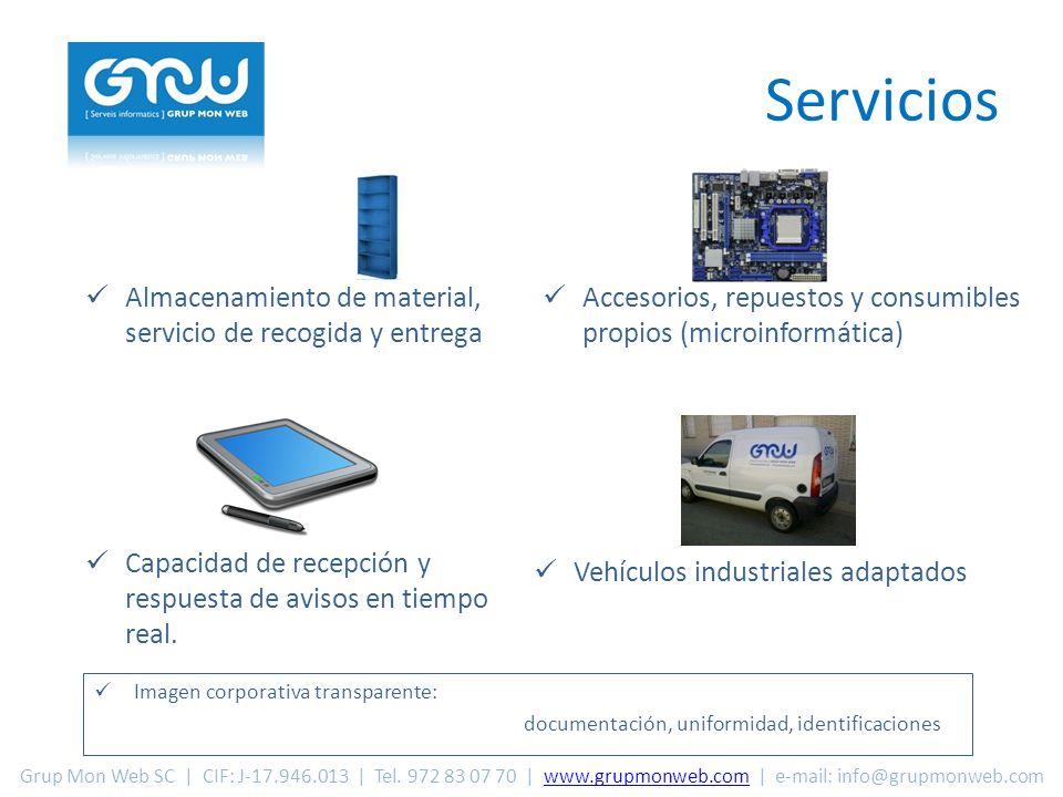 Servicios Imagen corporativa transparente: documentación, uniformidad, identificaciones Capacidad de recepción y respuesta de avisos en tiempo real.