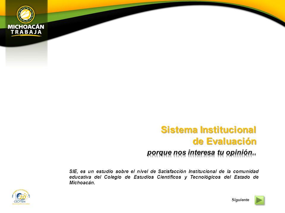 Sistema Institucional de Evaluación Sistema Institucional de Evaluación Noviembre 2011 Hacer click para iniciar