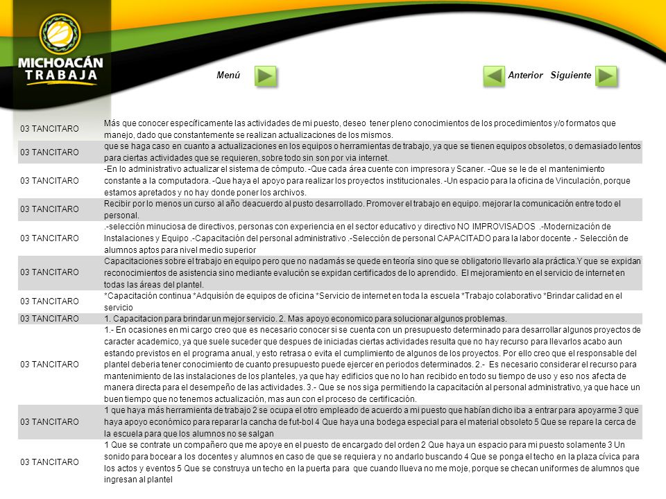 PlantelComentarios 01 PENJAMILLO Cursos de capacitacion para el personal administrativo.