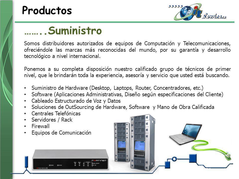 Productos Somos distribuidores autorizados de equipos de Computación y Telecomunicaciones, ofreciéndole las marcas más reconocidas del mundo, por su g