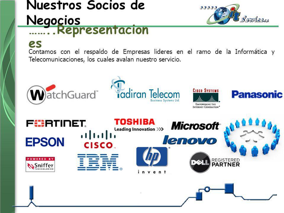 Nuestros Socios de Negocios Contamos con el respaldo de Empresas lideres en el ramo de la Informática y Telecomunicaciones, los cuales avalan nuestro
