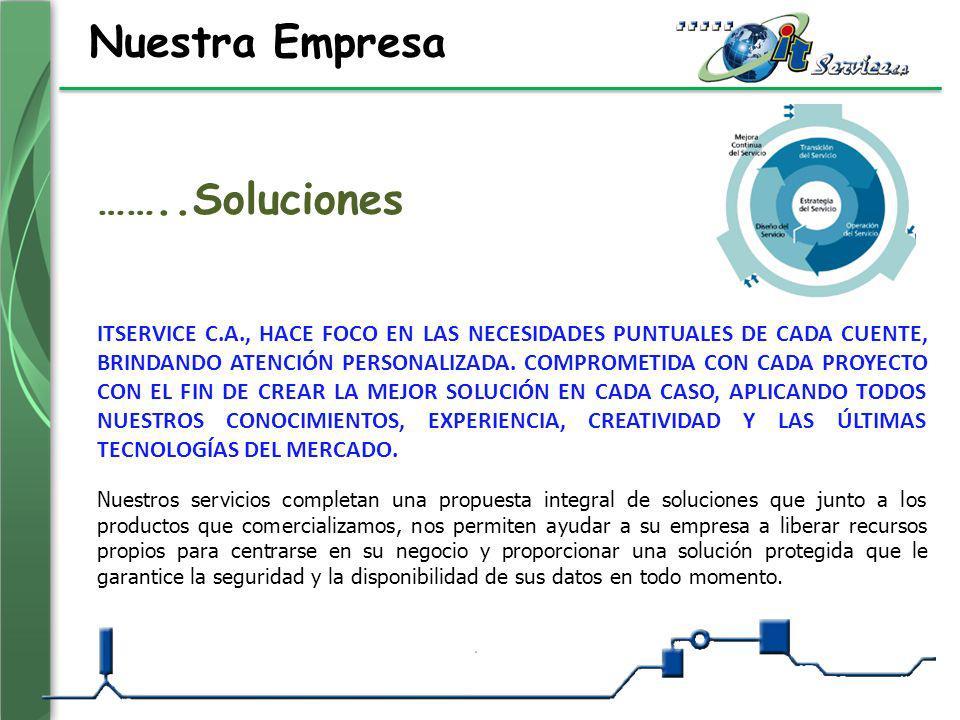 Nuestra Empresa Nuestros servicios completan una propuesta integral de soluciones que junto a los productos que comercializamos, nos permiten ayudar a