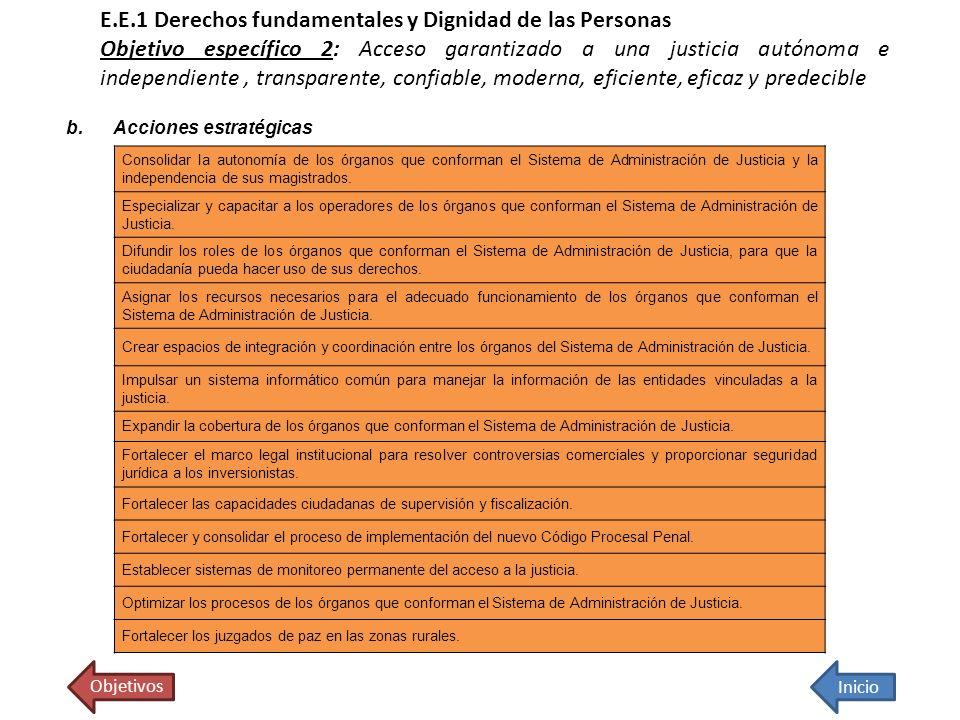 Consolidar la autonomía de los órganos que conforman el Sistema de Administración de Justicia y la independencia de sus magistrados. Especializar y ca