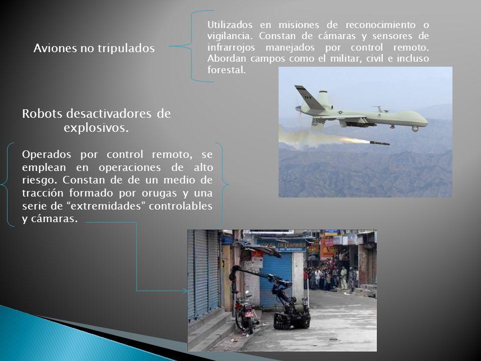 Aviones no tripulados Utilizados en misiones de reconocimiento o vigilancia.