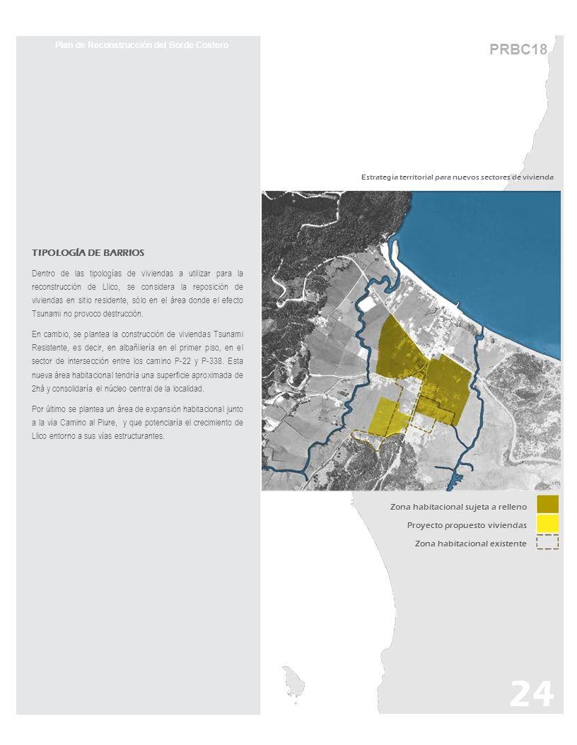 PRBC18 Estrategia territorial para nuevos sectores de vivienda Plan de Reconstrucción del Borde Costero TIPOLOGÍA DE BARRIOS Dentro de las tipologías