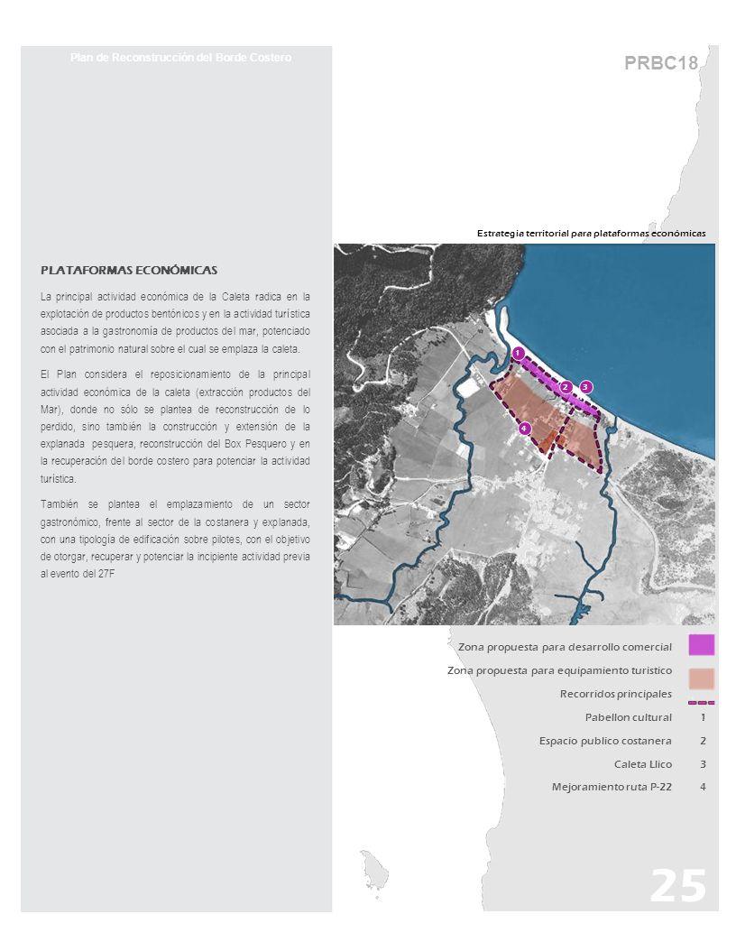 PRBC18 Estrategia territorial para plataformas económicas Plan de Reconstrucción del Borde Costero PLATAFORMAS ECONÓMICAS La principal actividad econó