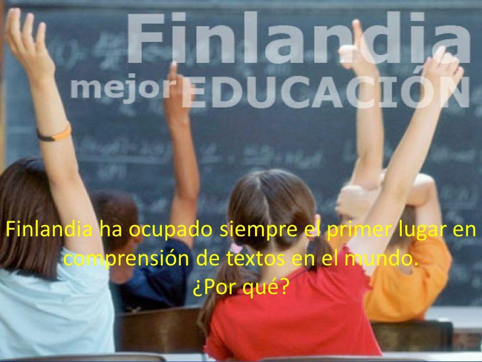 Finlandia ha ocupado siempre el primer lugar en comprensión de textos en el mundo. ¿Por qué?