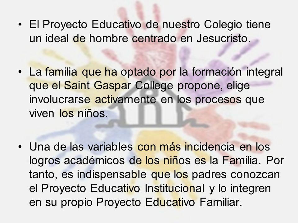 El Proyecto Educativo de nuestro Colegio tiene un ideal de hombre centrado en Jesucristo. La familia que ha optado por la formación integral que el Sa