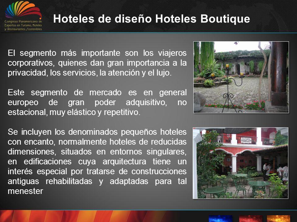 Describe hoteles de entornos íntimos, generalmente lujosos o no convencionales y emplazados en antiguas casas.
