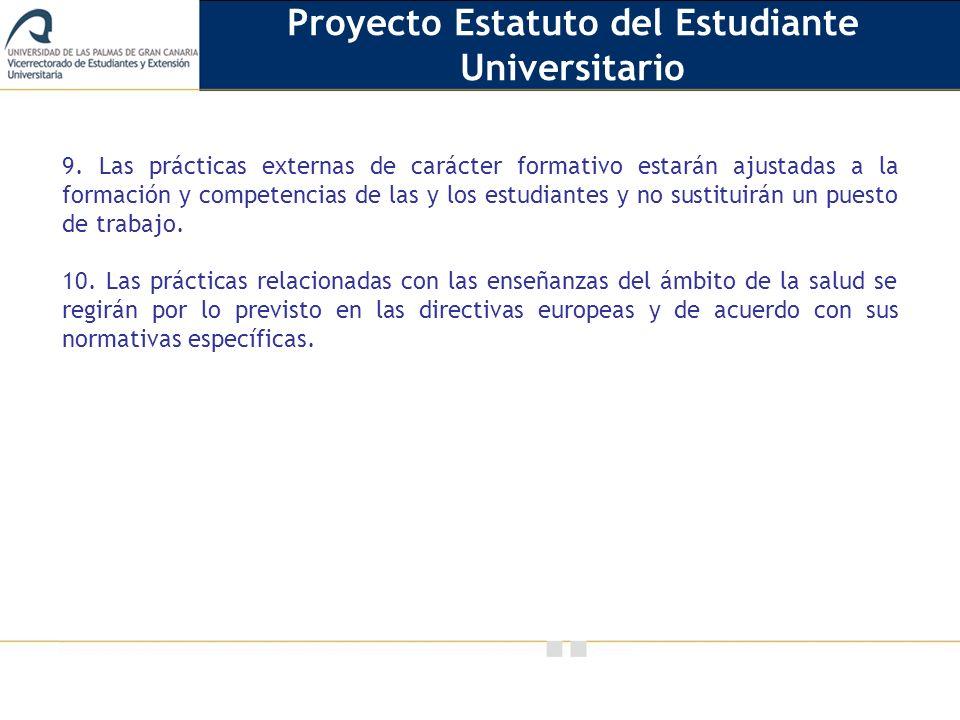 Vicerrectorado de Calidad e Innovación Educativa 9.