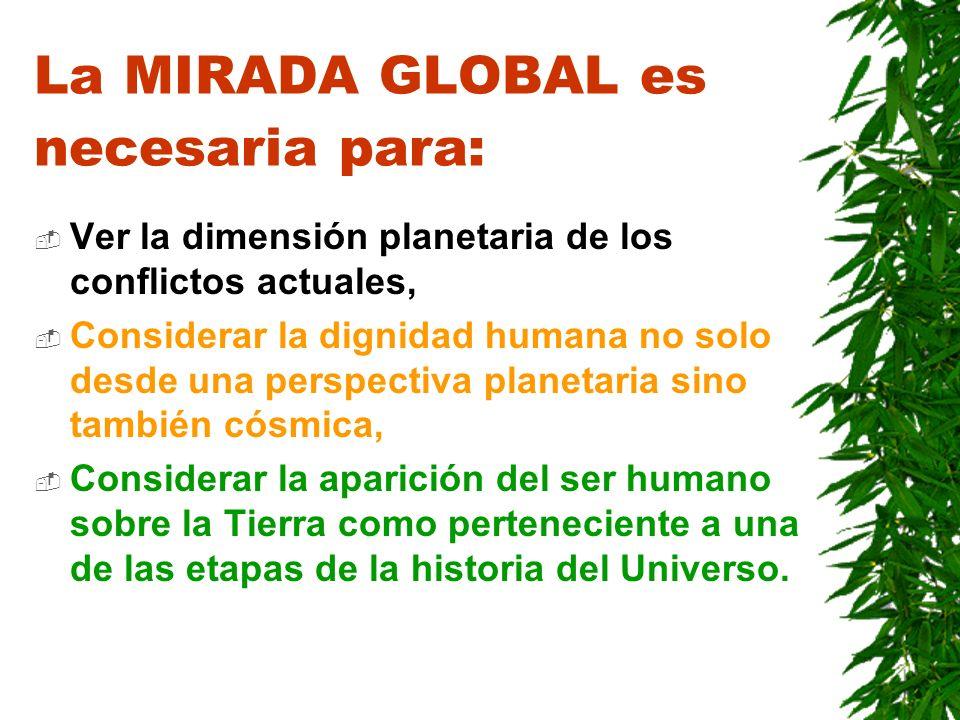 EL EJE PROBLEMÁTICO está puesto entre : proliferación de las disciplinas mirada global del ser humano y se entiende el ser humano como SUJETO, así que se refiere a la mirada global propia del ser humano.
