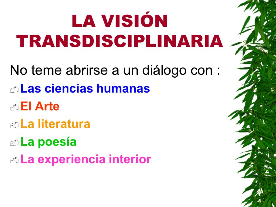 LA CARTA DISTINGUE: Disciplinas Académicas, las llamadas disciplinas científicas Disciplinas No Académicas.