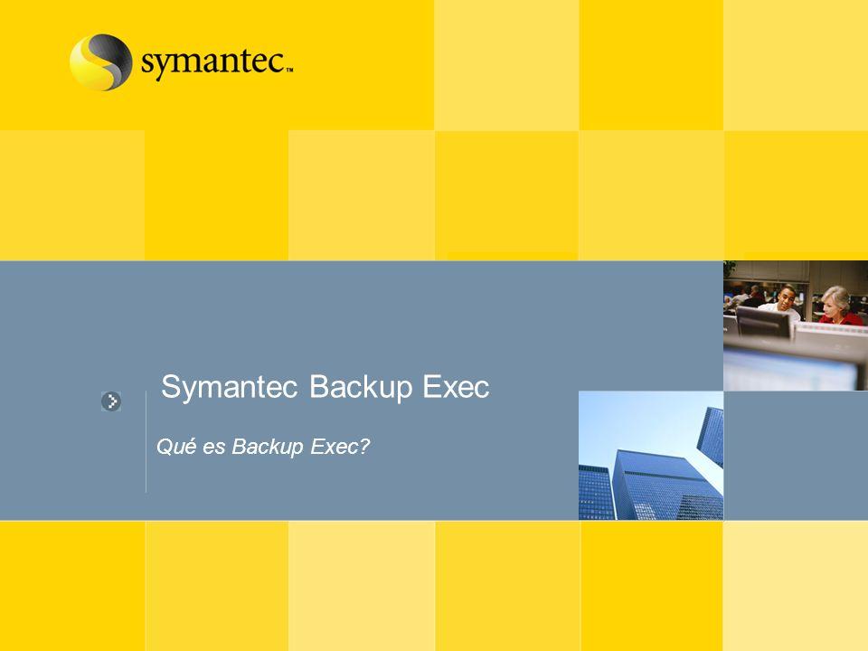 Symantec Backup Exec Qué es Backup Exec?