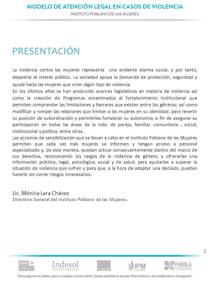 76 6.4.MODELO DE INTERVENCIÓN LEGAL Etapa 1.