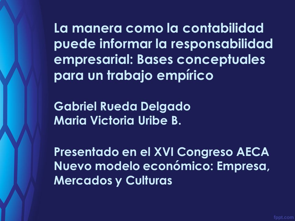 I TINERARIO Gabriel Rueda Delgado (gabriel.rueda@javeriana.edu.co) Maria Victoria Uribe B.