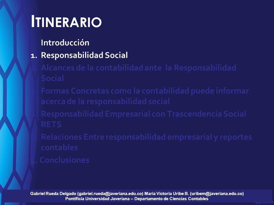 F ORMAS CONCRETAS COMO LA CONTABILIDAD PUEDE INFORMAR ACERCA DE LA RESPONSABILIDAD SOCIAL 1.