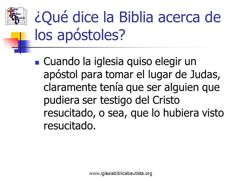 ¿Qué dice la Biblia acerca de los apóstoles? Cuando la iglesia quiso elegir un apóstol para tomar el lugar de Judas, claramente tenía que ser alguien