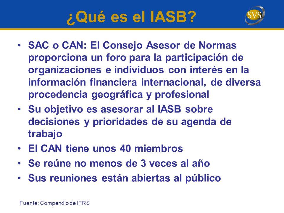 SAC o CAN: El Consejo Asesor de Normas proporciona un foro para la participación de organizaciones e individuos con interés en la información financie