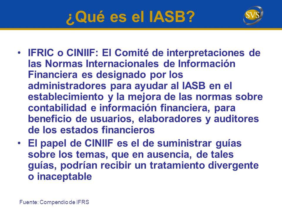 IFRIC o CINIIF: El Comité de interpretaciones de las Normas Internacionales de Información Financiera es designado por los administradores para ayudar