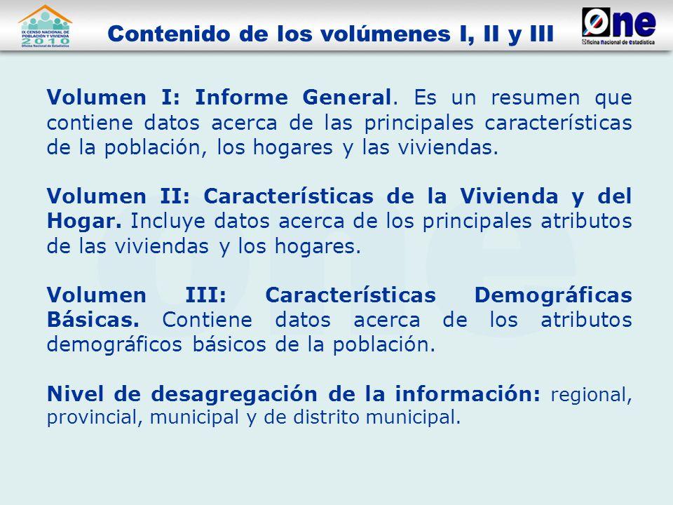 Volumen I: Informe General.