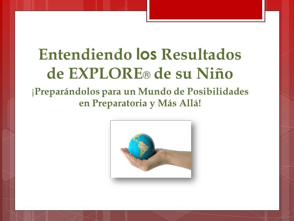 Entendiendo los Resultados de EXPLORE ® de su Niño ¡ Preparándolos para un Mundo de Posibilidades en Preparatoria y Más Allá!