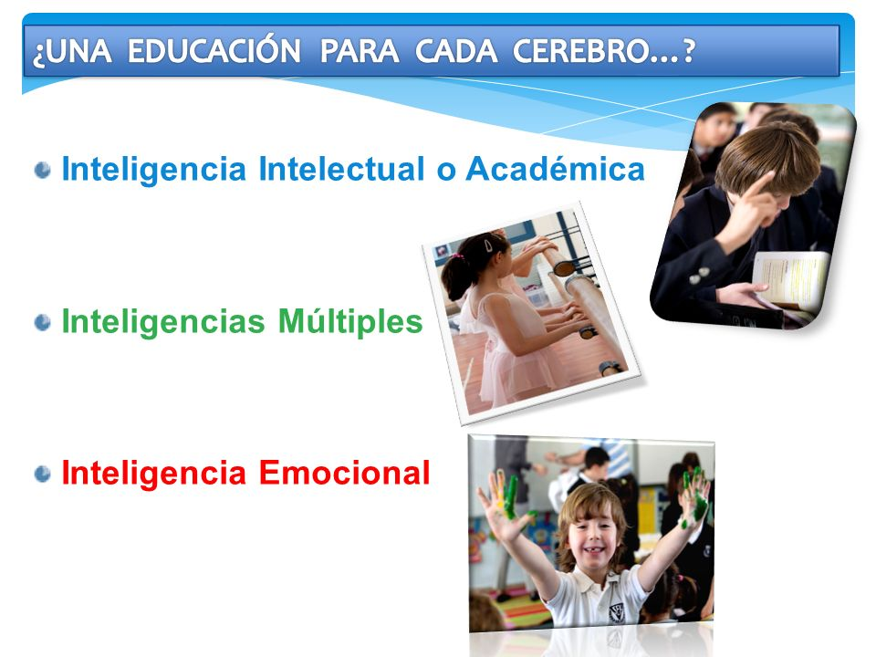 Inteligencia Intelectual o Académica Inteligencias Múltiples Inteligencia Emocional