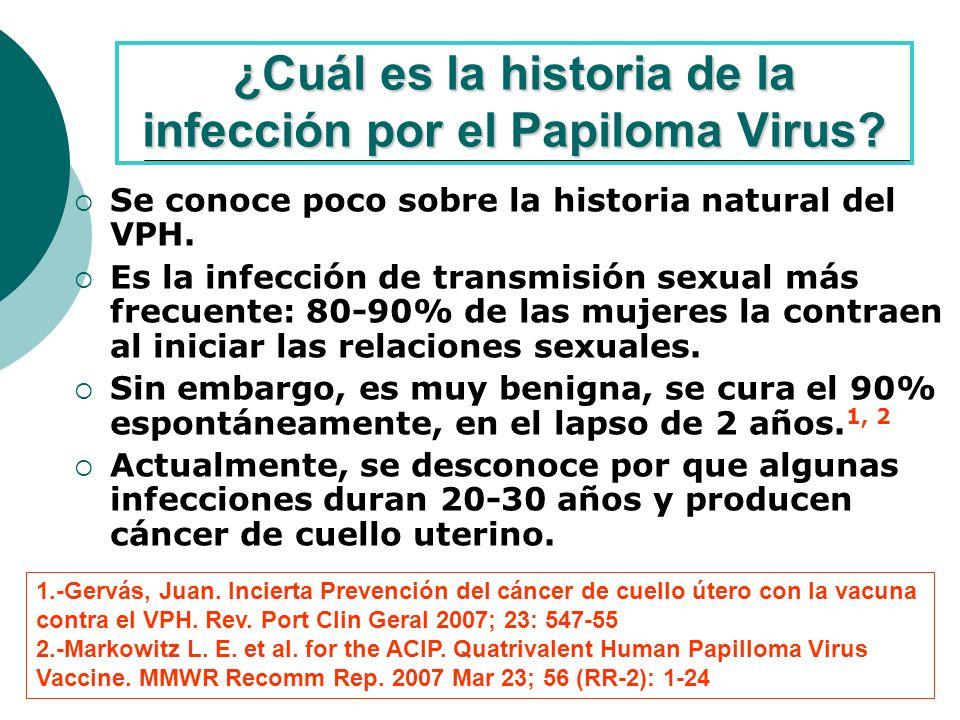 ¿Cuál es la historia de la infección por el Papiloma Virus.