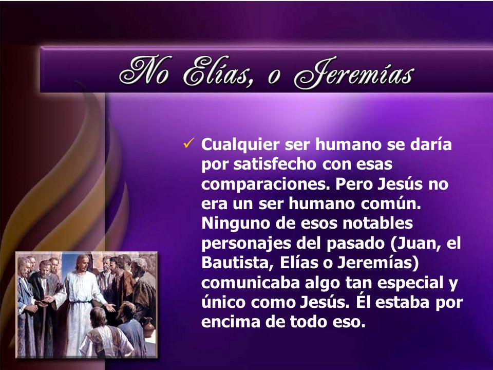 Cualquier ser humano se daría por satisfecho con esas comparaciones. Pero Jesús no era un ser humano común. Ninguno de esos notables personajes del pa