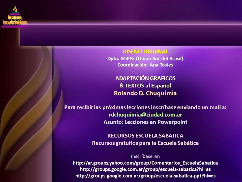 DISEÑO ORIGINAL Dpto. MiPES (Unión Sur del Brasil) Coordinación: Ana Tostes ADAPTACIÓN GRAFICOS & TEXTOS al Español Rolando D. Chuquimia Para recibir