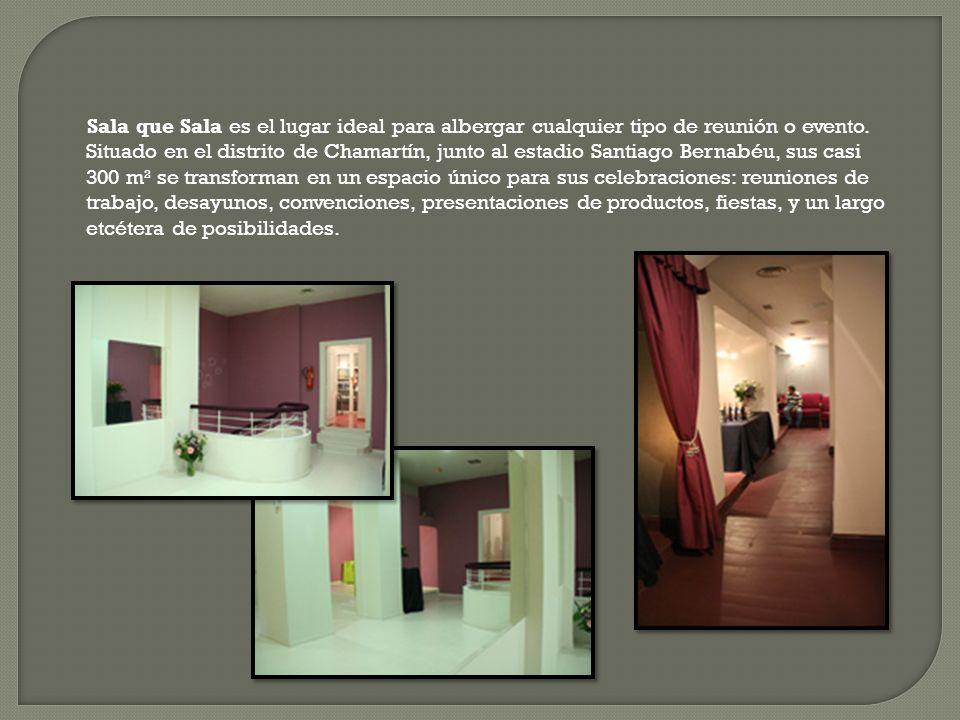 Sala que Sala es el lugar ideal para albergar cualquier tipo de reunión o evento. Situado en el distrito de Chamartín, junto al estadio Santiago Berna
