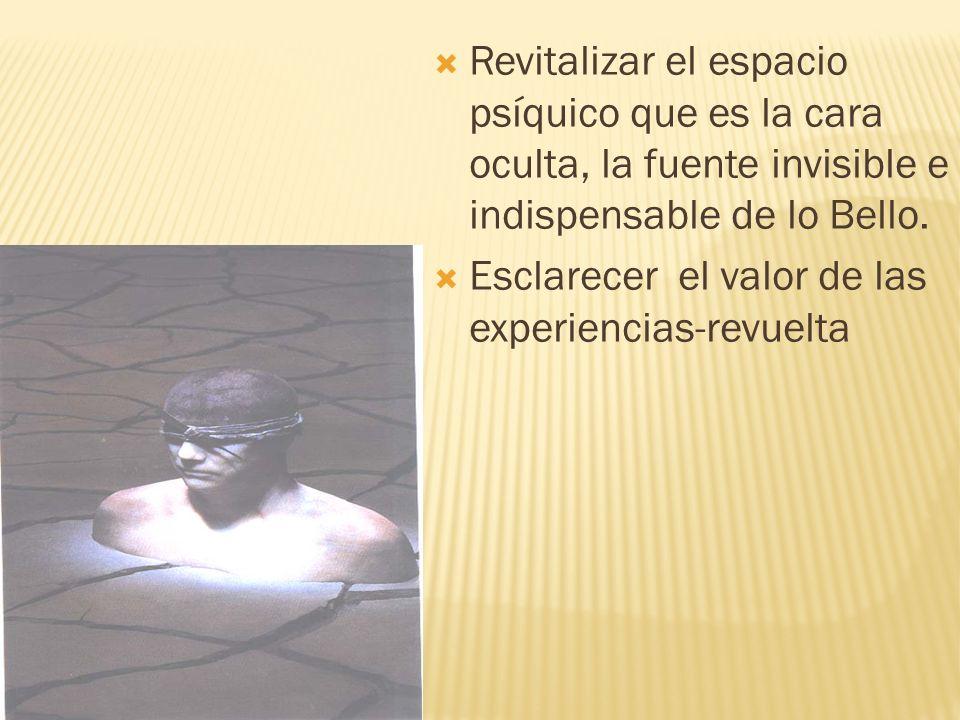 Revitalizar el espacio psíquico que es la cara oculta, la fuente invisible e indispensable de lo Bello.