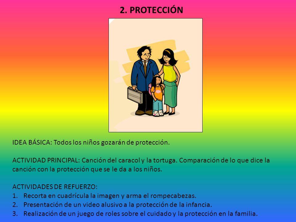 IDEA BÁSICA: Todos los niños gozarán de protección.