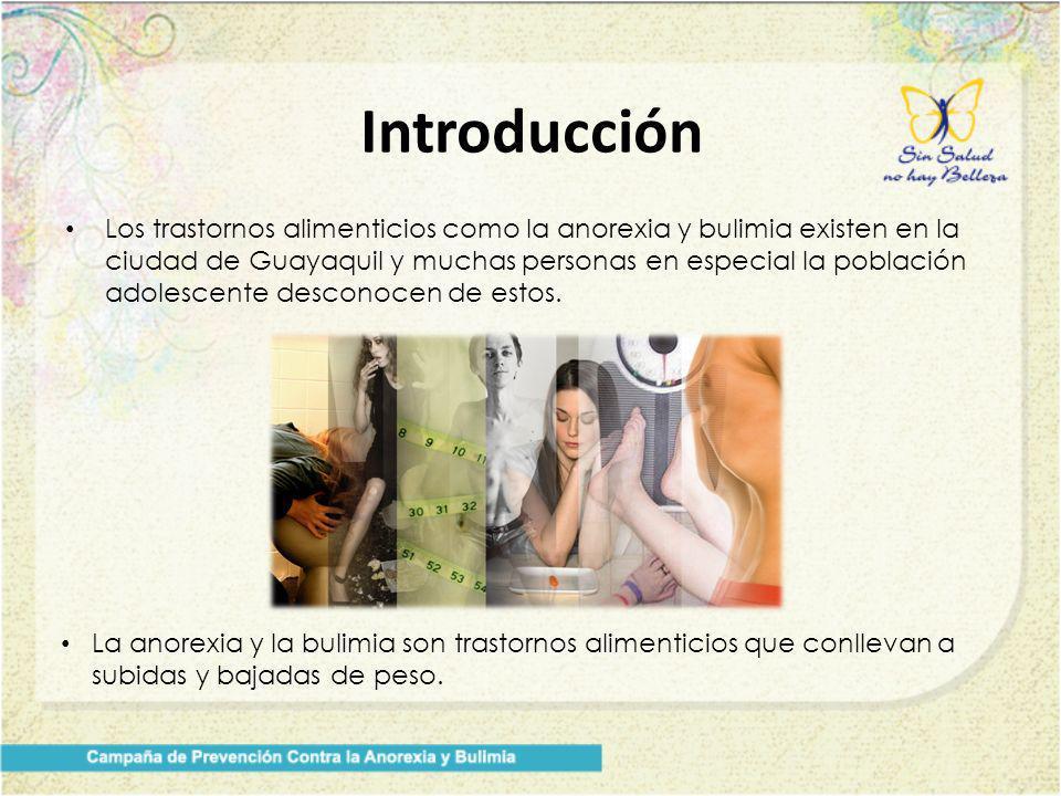 Los trastornos alimenticios como la anorexia y bulimia existen en la ciudad de Guayaquil y muchas personas en especial la población adolescente descon