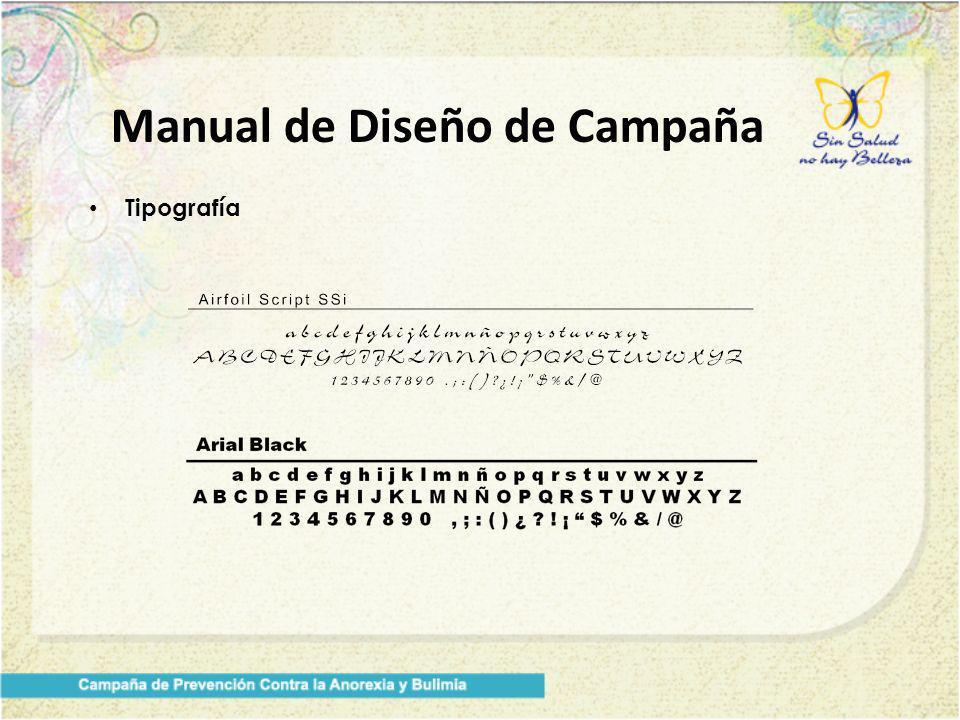 Manual de Diseño de Campaña Tipografía