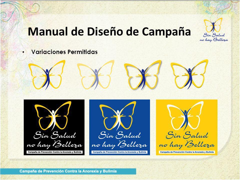 Manual de Diseño de Campaña Variaciones Permitidas