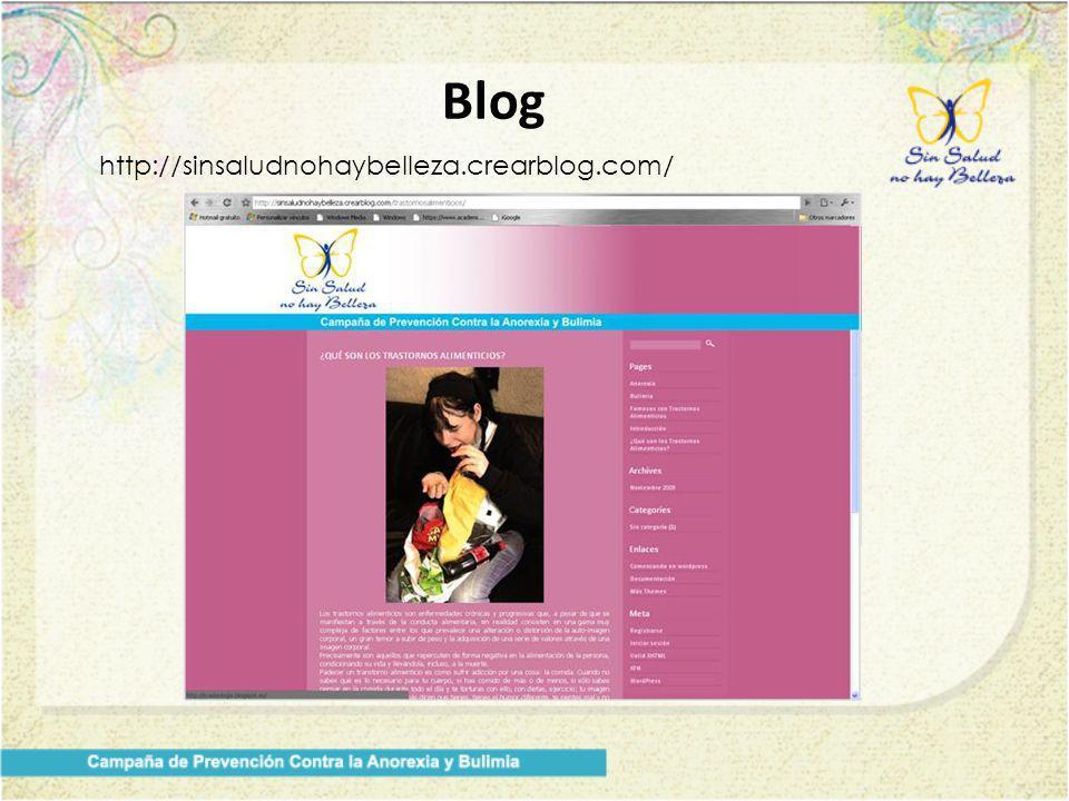 Blog http://sinsaludnohaybelleza.crearblog.com/