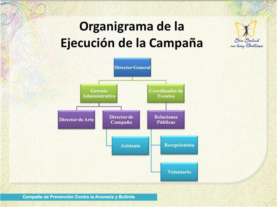 Organigrama de la Ejecución de la Campaña