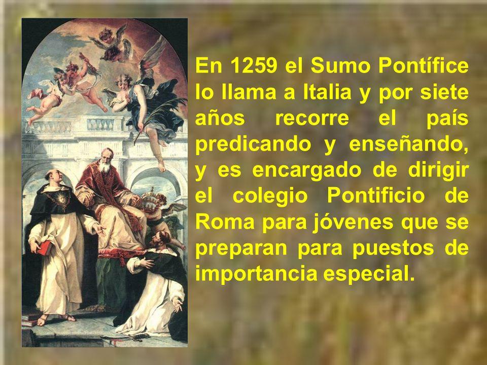 No permaneció mucho tiempo ni establemente en París. En 1259 participó en el capítulo general de los dominicos en Valenciennes, donde fue miembro de u