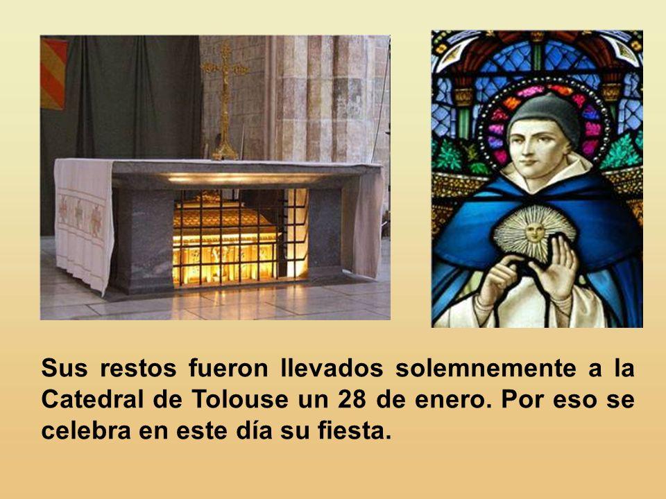Cuando Juan XXII lo canonizó, en 1323, y algunos objetaban que Tomás no había realizado grandes prodigios ni en vida ni después de muerto, el Papa con