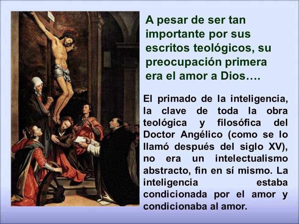 A pesar de ser tan importante por sus escritos teológicos, su preocupación primera era el amor a Dios….