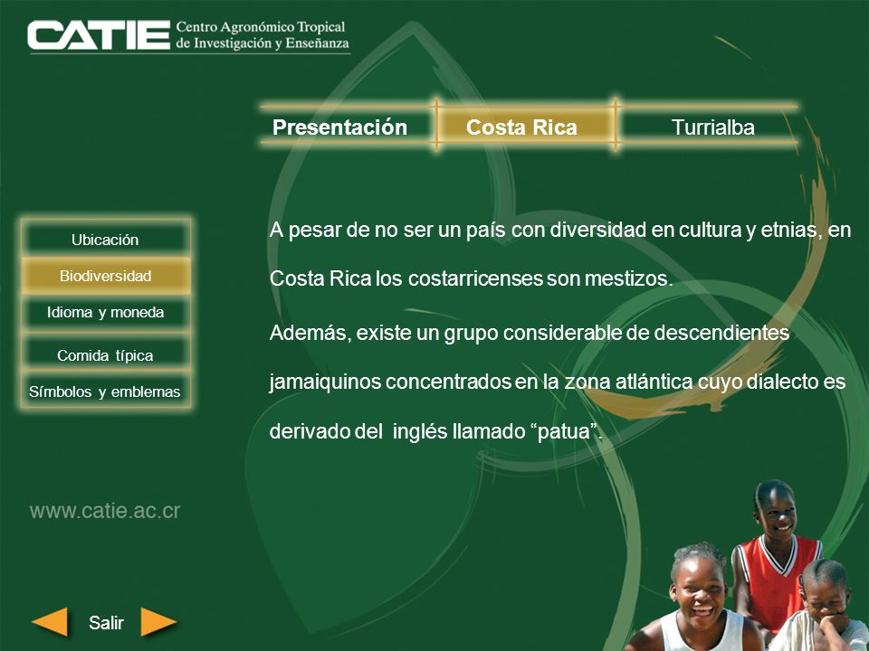A pesar de no ser un país con diversidad en cultura y etnias, en Costa Rica los costarricenses son mestizos. Además, existe un grupo considerable de d