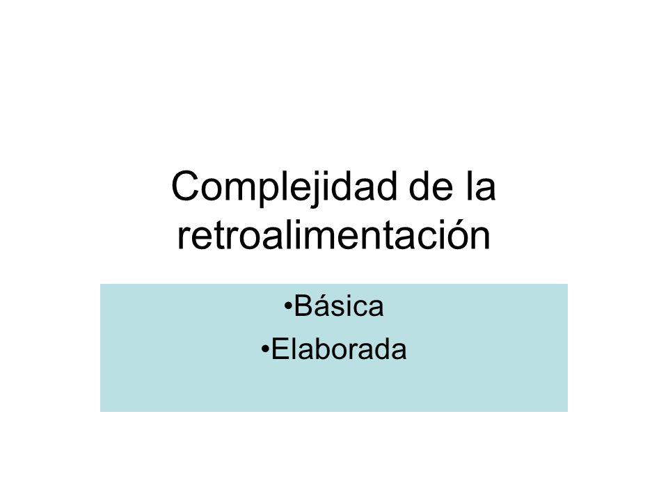Complejidad de la retroalimentación Básica Elaborada