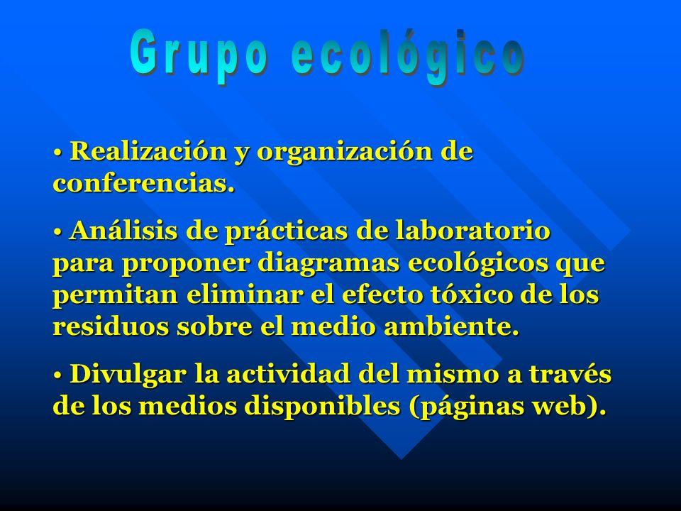 Realización y organización de conferencias. Realización y organización de conferencias. Análisis de prácticas de laboratorio para proponer diagramas e