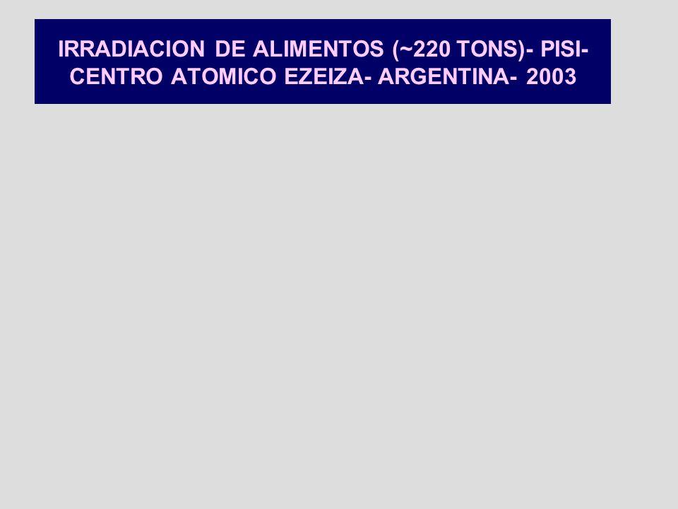 PLANTA SEMI-INDUSTRIAL DEL CENTRO ATOMICO EZEIZA- IRRADIACION ESTATICA DE AJOS FRESCOS