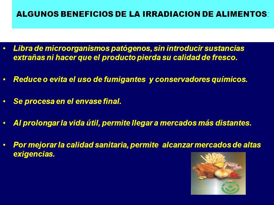 INVESTIGACION Y DESARROLLO EN IRRADIACION DE ALIMENTOS EN ARGENTINA, FUERA DE CNEA: UNIV.NAC.DEL SUR (BAHIA BLANCA): AJO-CEBOLLA-MERLUZA-FRUTILLA.