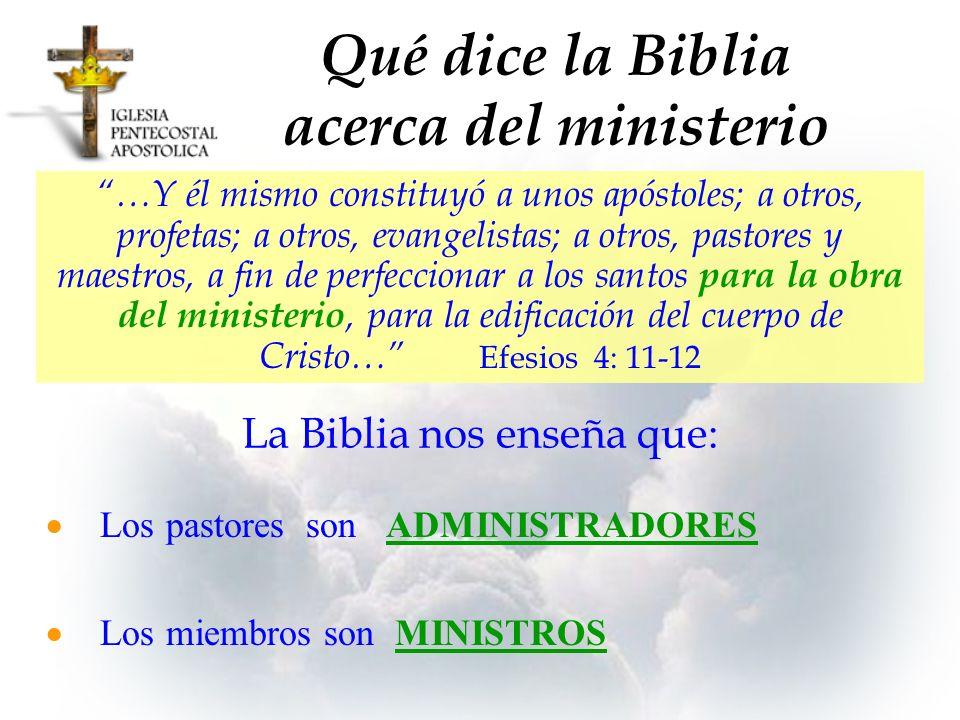 …Y él mismo constituyó a unos apóstoles; a otros, profetas; a otros, evangelistas; a otros, pastores y maestros, a fin de perfeccionar a los santos pa