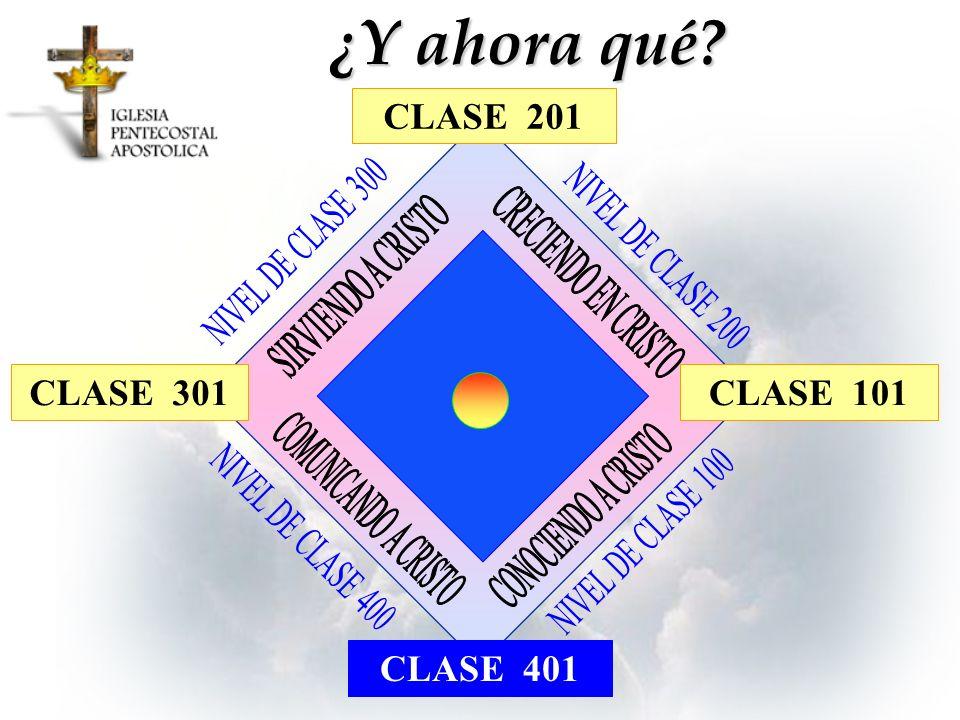 CLASE 301 ¿Y ahora qué? CLASE 101 CLASE 401 CLASE 201