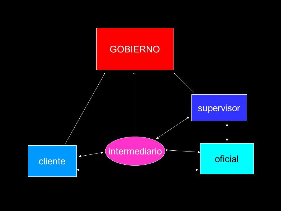 cliente oficial intermediario supervisor GOBIERNO
