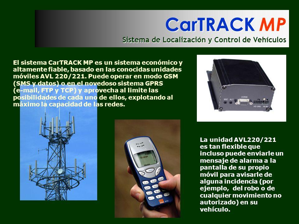 CarTRACK MP Sistema de Localización y Control de Vehículos El sistema CarTRACK MP es un sistema económico y altamente fiable, basado en las conocidas
