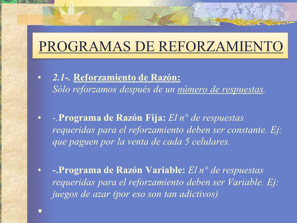 PROGRAMAS DE REFORZAMIENTO 2.1-.